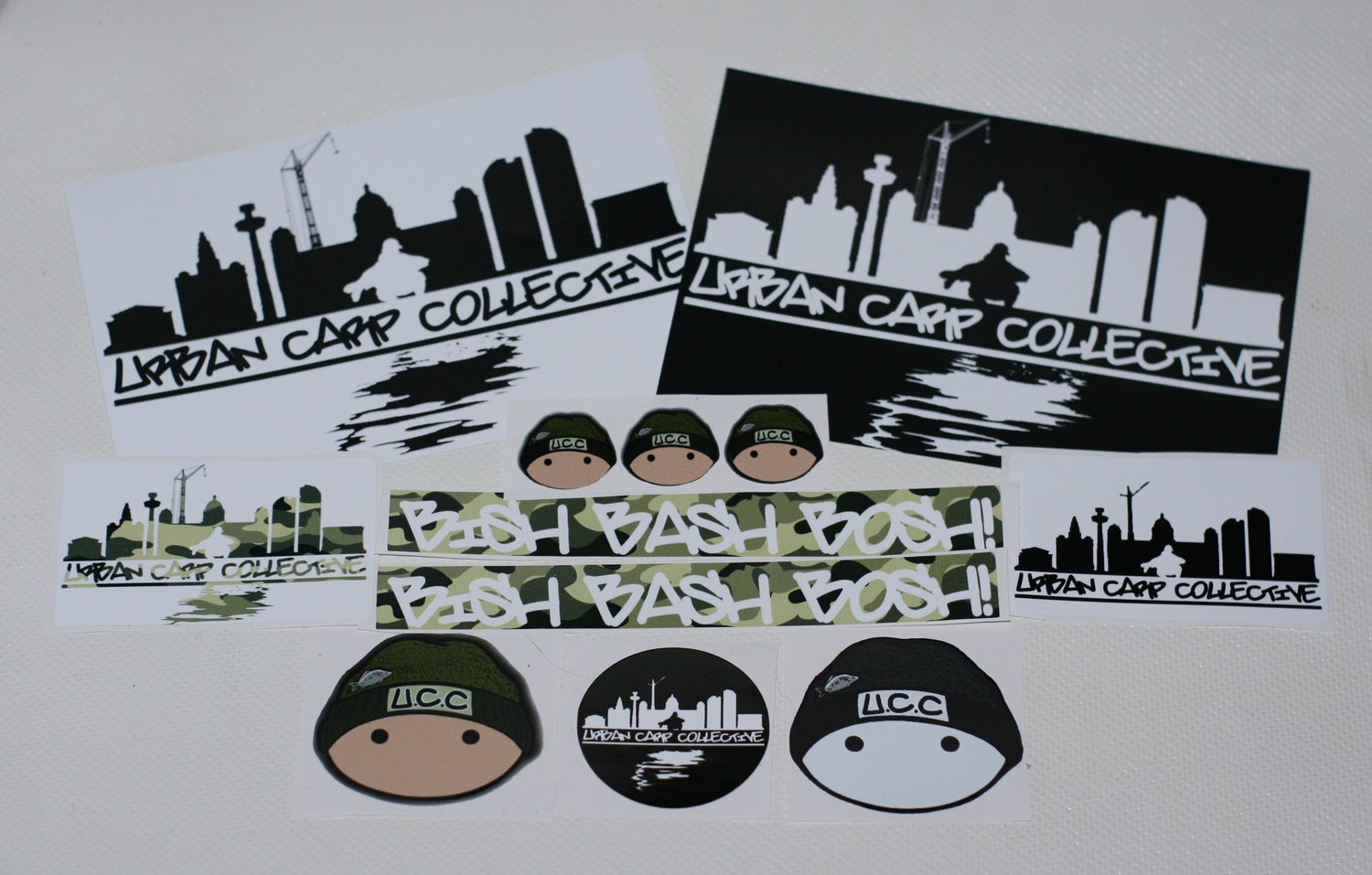 Image of Full Urban Carp Collective Sticker Set