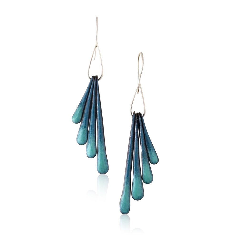 Image of fringe wing earrings