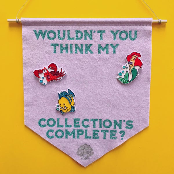 Image of Glitter Pin & Badge Display Banner