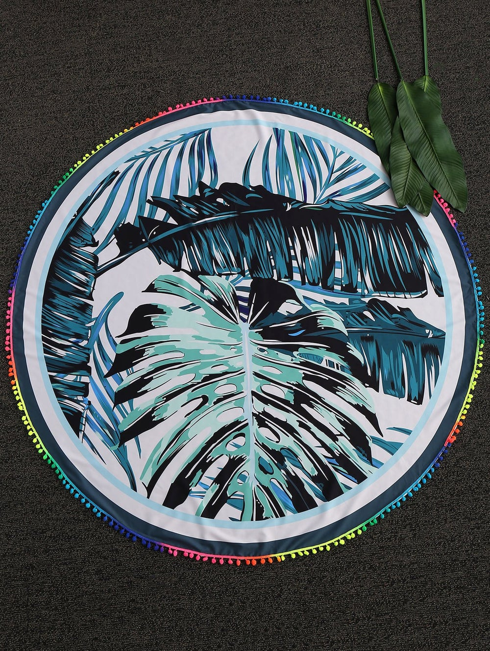 Image of Palm - Beach Throw Blanket