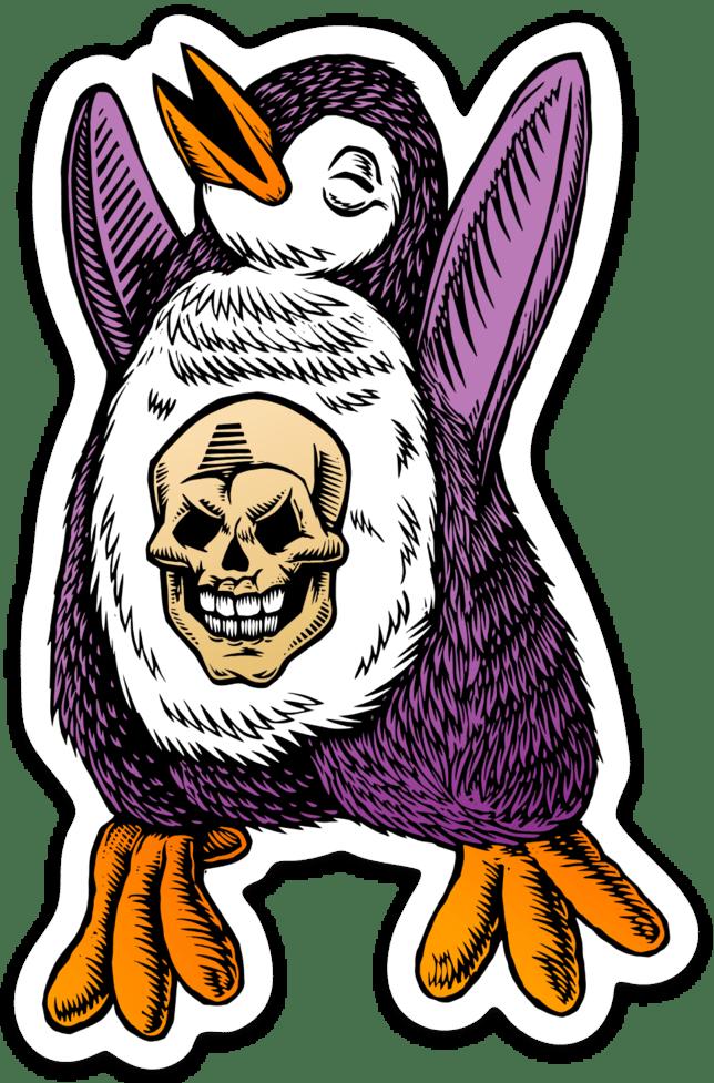 Skull Penguin Sticker