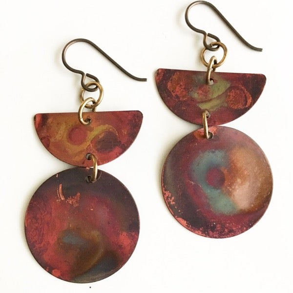 Image of Heat Patina Earrings