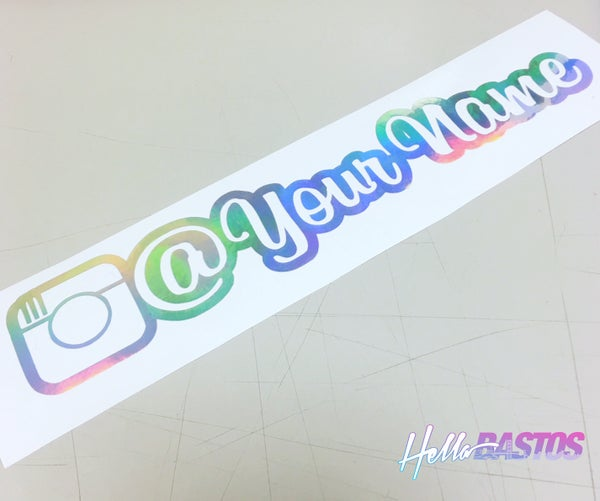 "Image of Custom Pair of Instagram Decals 9"" Inch"