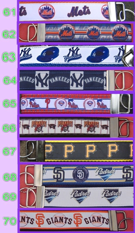 Image of MLB Team KeyChain FOBs