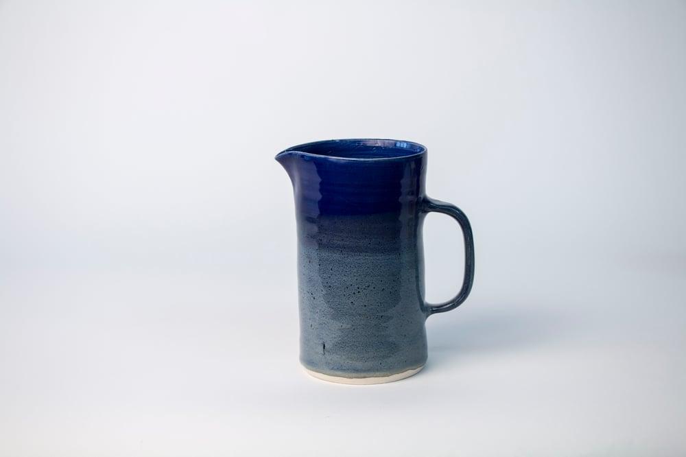 Image of cobalt w/ tan Pitcher