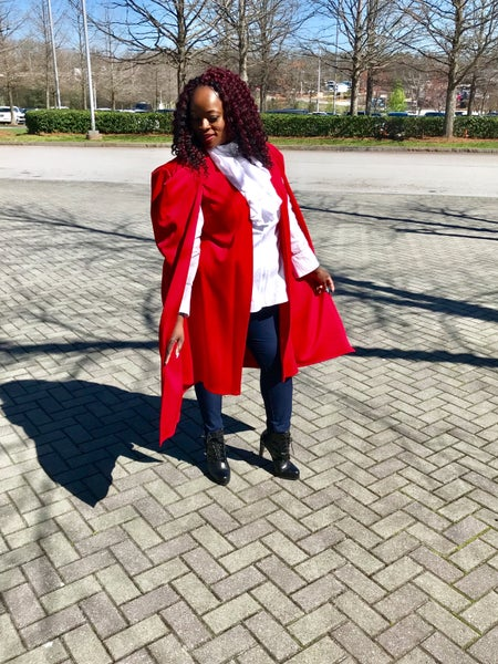 Image of Long Red Cape