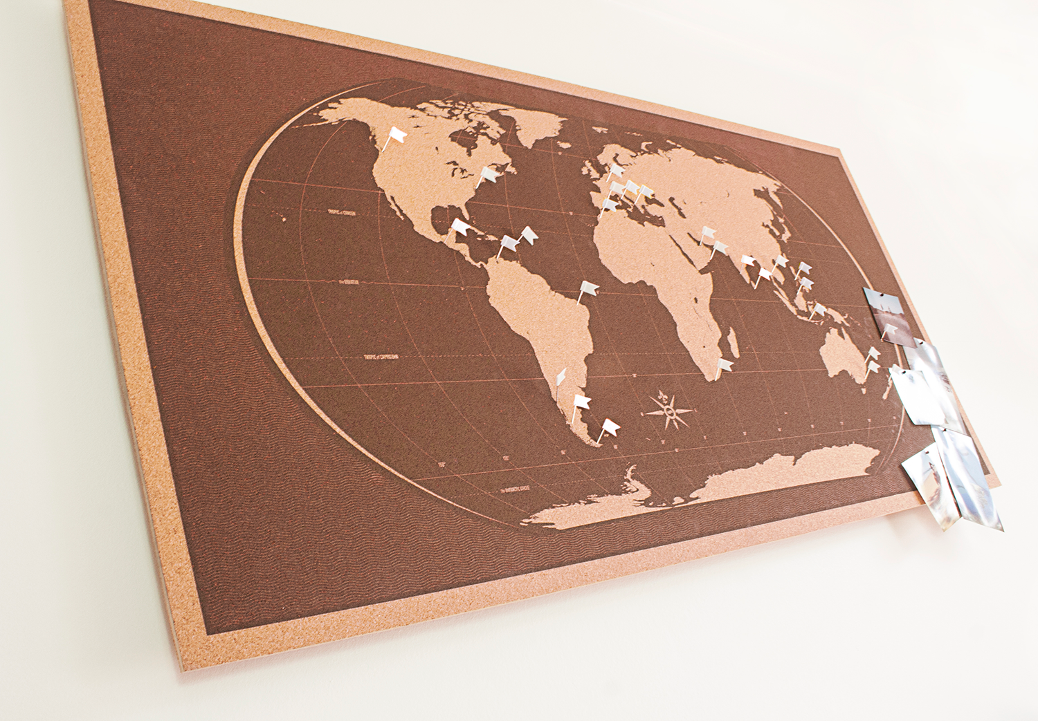 Image of Skinny Brown World Map