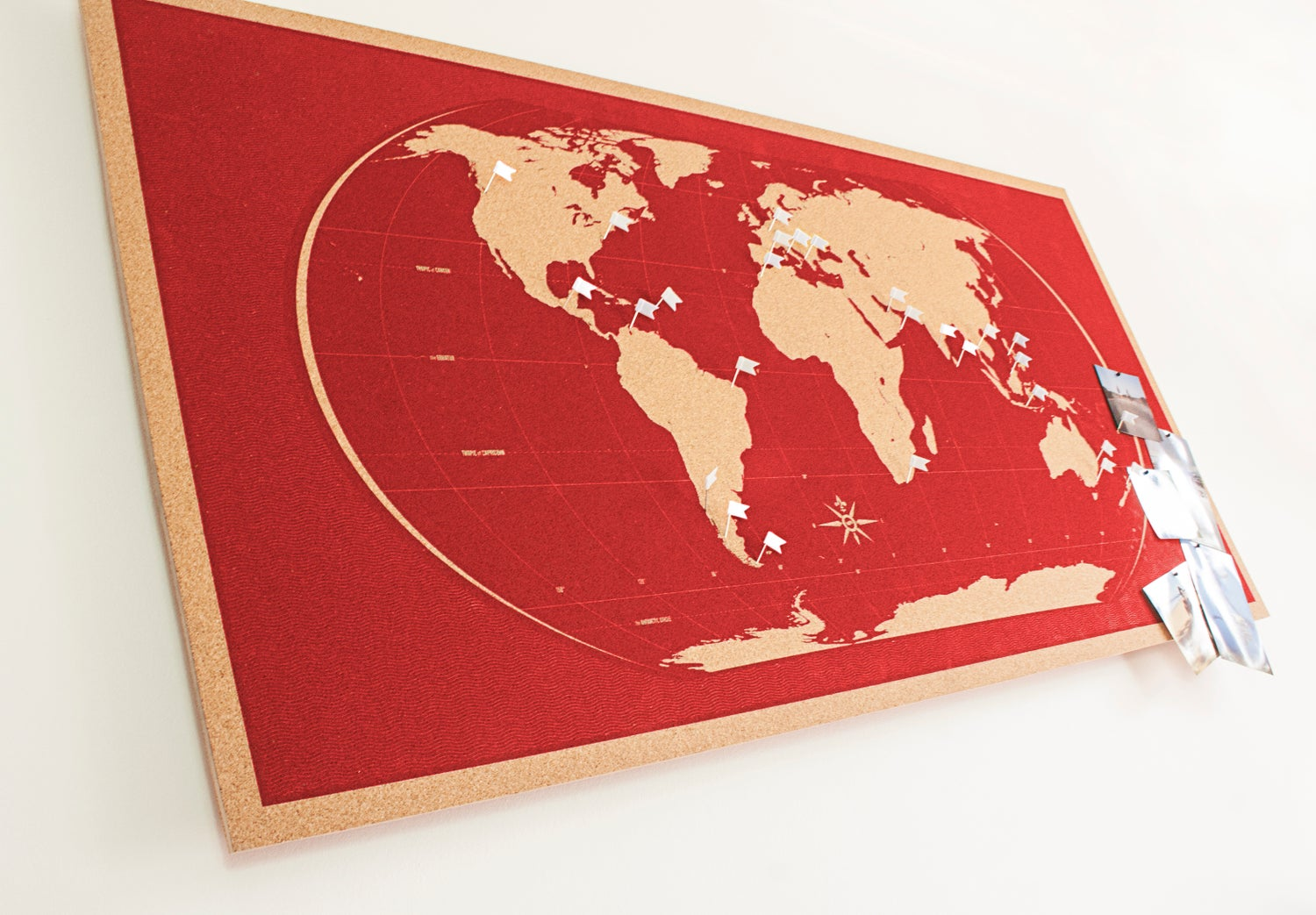Image of Skinny Red World Map
