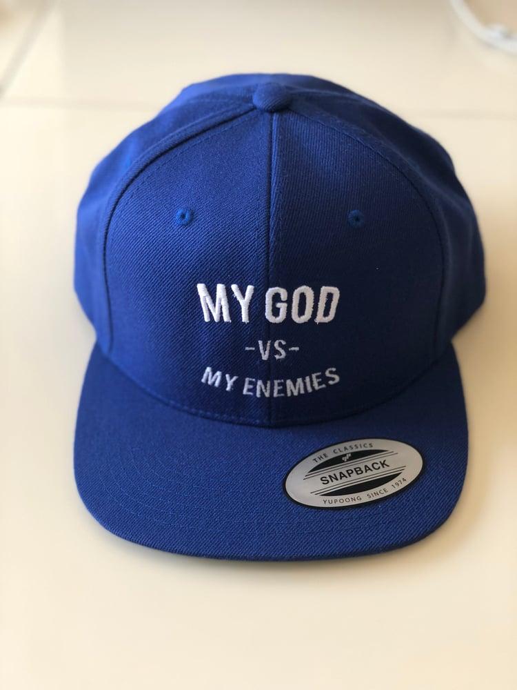 Image of Blue SnapBack : My God Vs My Enemies
