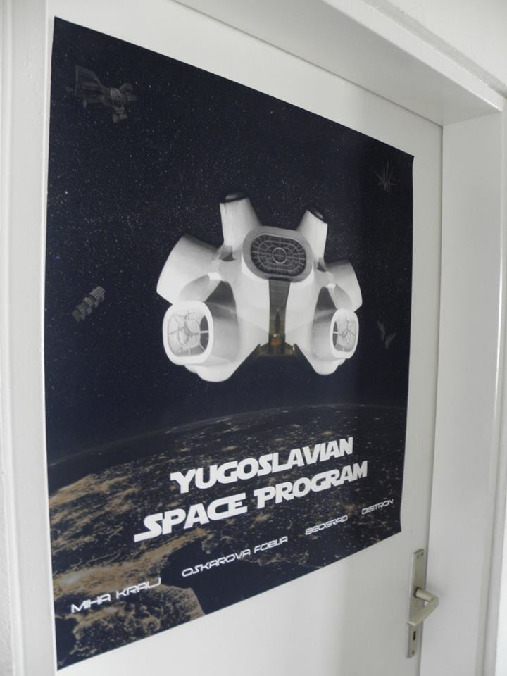 Image of Yugoslavian Space Program Poster 67cm X 70cm, free packing material, 5 EUR shipping with tracking