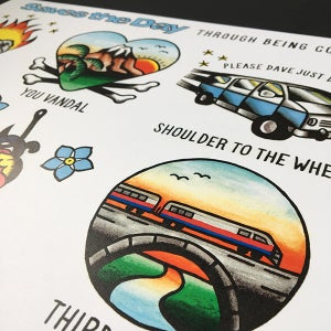 Image of Saves the Day - Through Being Cool print