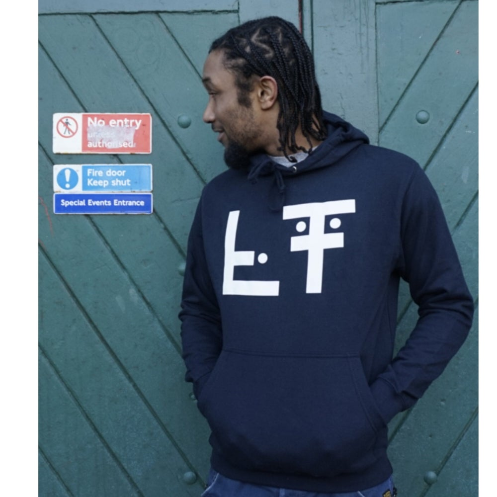 Image of Living Testimony #3dots Hood Navy/White