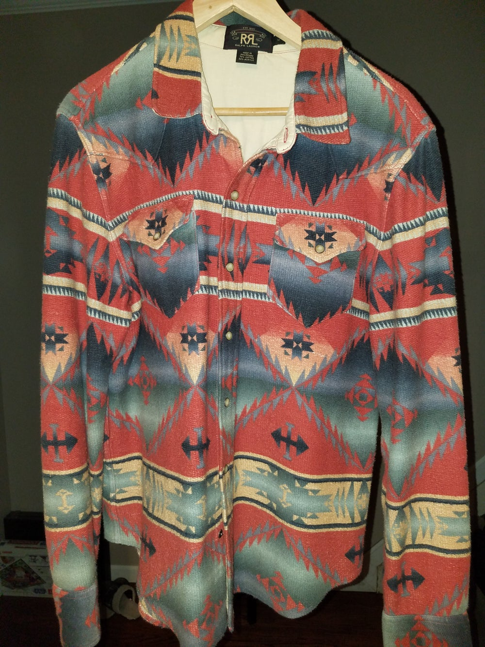 Image of RRL AZTEC BUTTON DOWN