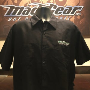 Image of Button Up WORK SHIRT - Black Jack
