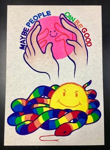 Image of MAYBE PEOPLE CAN BE GOOD Print by Brad Rohloff