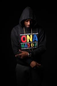 Image of OnaMadOne Rainbow Hoodie