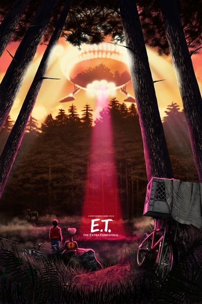 """Image of E.T. Sunset 16x24"""" (officially licensed)"""