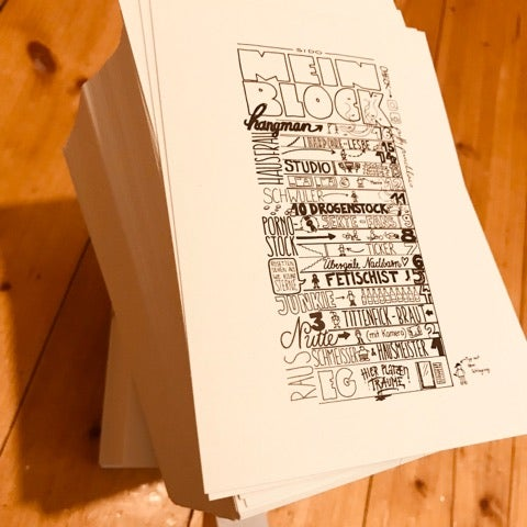 "Image of ""Mein Block"" Mini-Print"