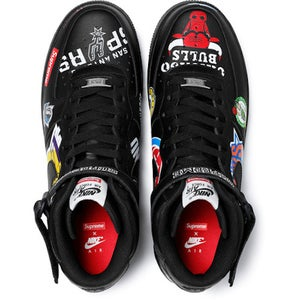 "Image of supreme x nike air force 1 mid ""NBA"", brand new"