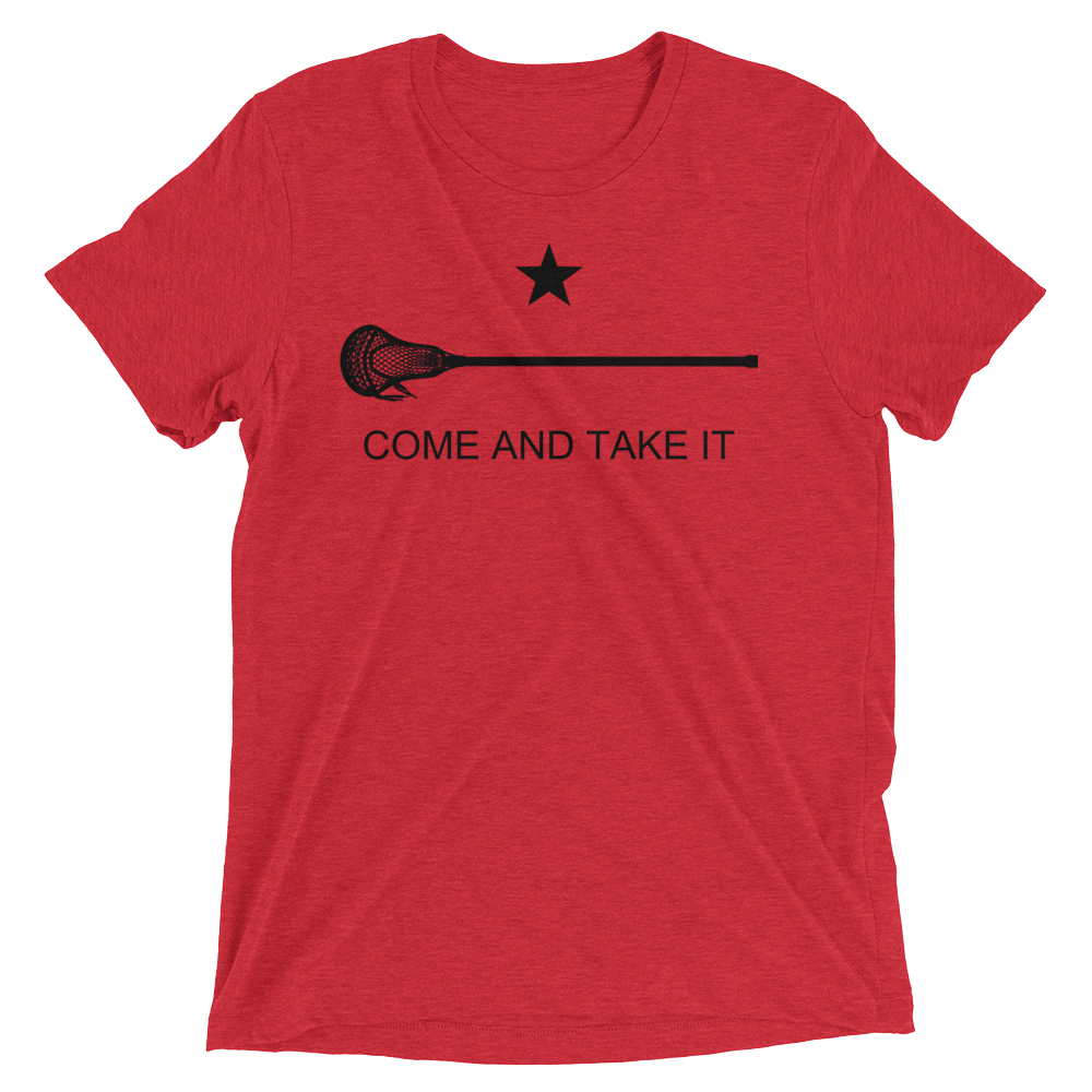Image of Come and Take it Lacrosse  Tri-Blend T-Shirt
