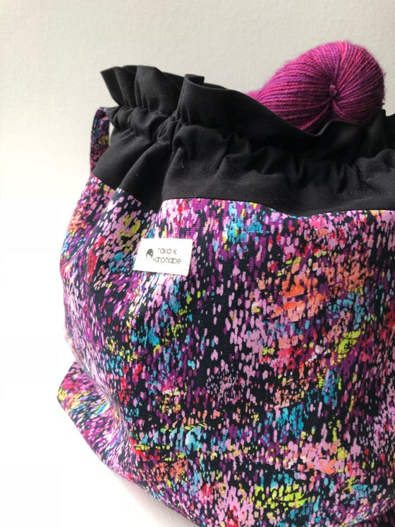 Image of Paint Splatter - Drawstring Project Bag