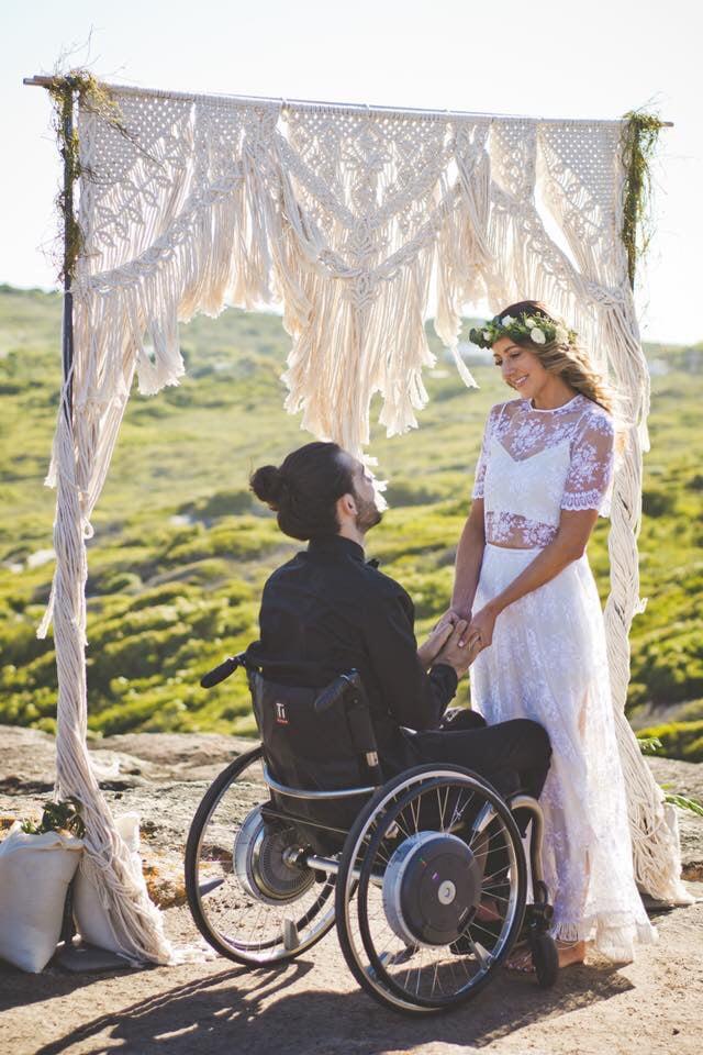 Image of Macrame wedding arbour
