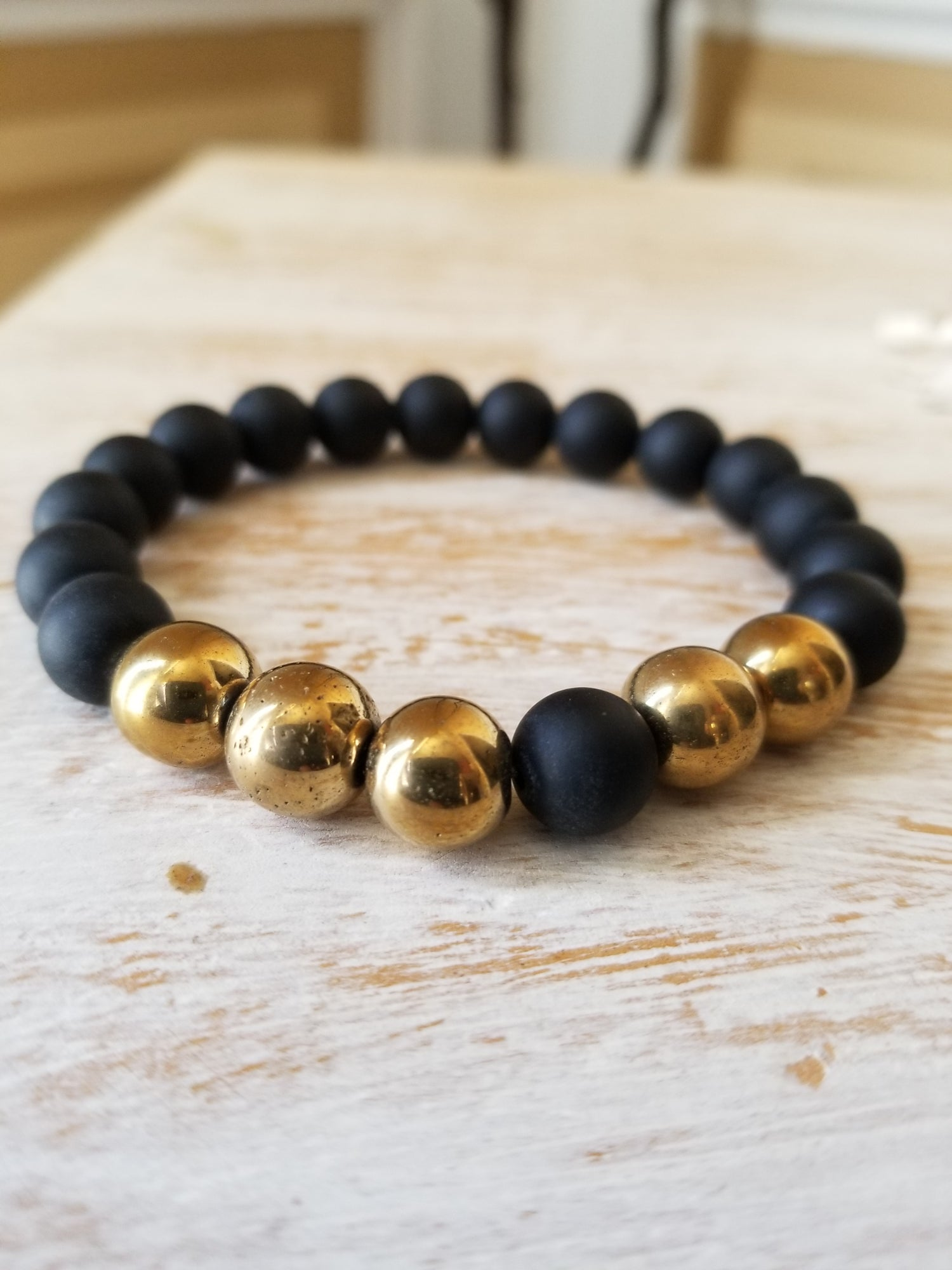 Image of GOLD HEMATITE LEGEND ARM CANDY