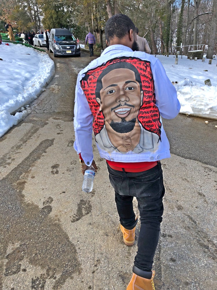 "Image of Hand painted ""PORTRAIT JACKET"""