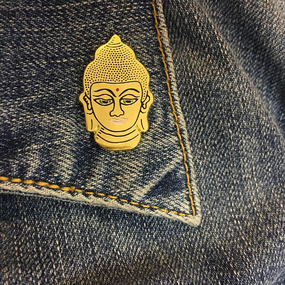 Golden Buddha Enamel Pin