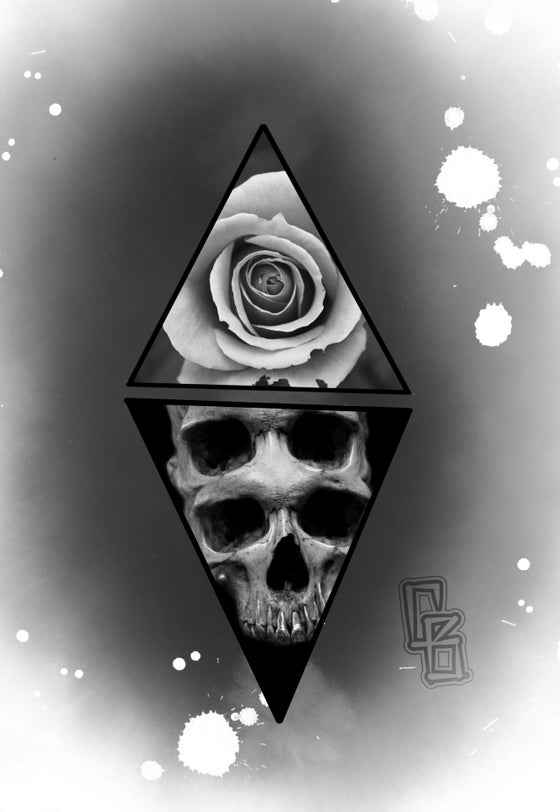 Image of Triangle A4 Skull Print