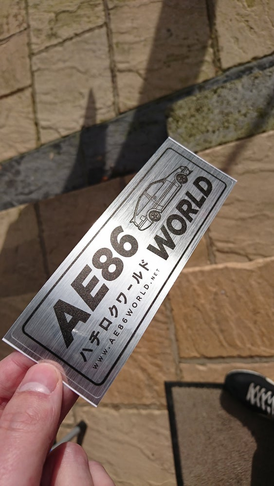 Image of AE86 WORLD Sticker *NEW*
