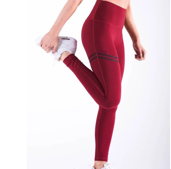 Image of Women's Red High Waist Tights