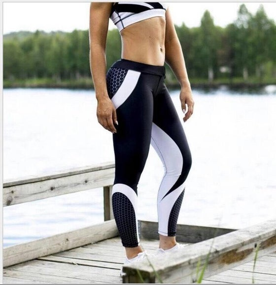 Image of Women's White & Black Tribal Tights
