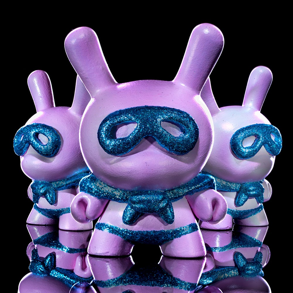 Image of Satin Pink/turquoise sparkle Superdunny