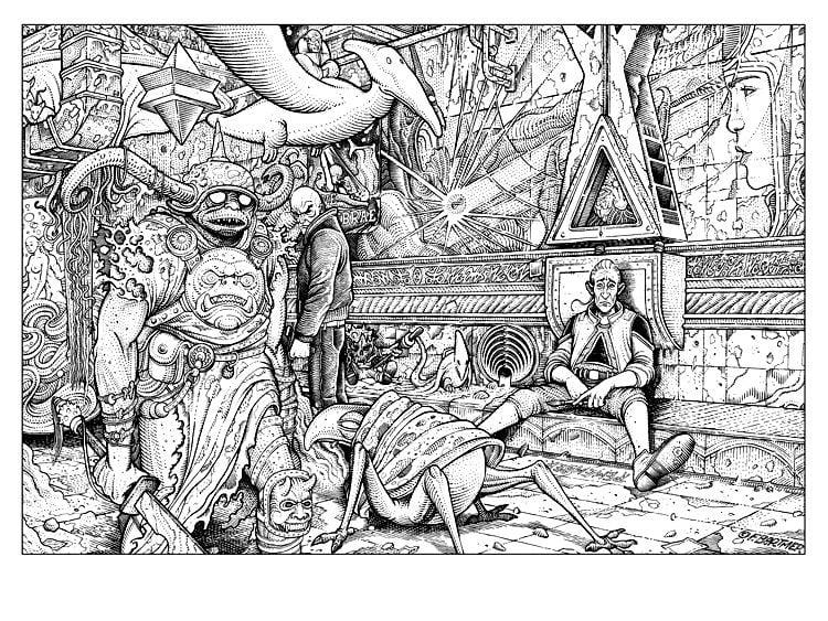 Image of Florian Bertmer 'The Incal - Tribute to Moebius' original art