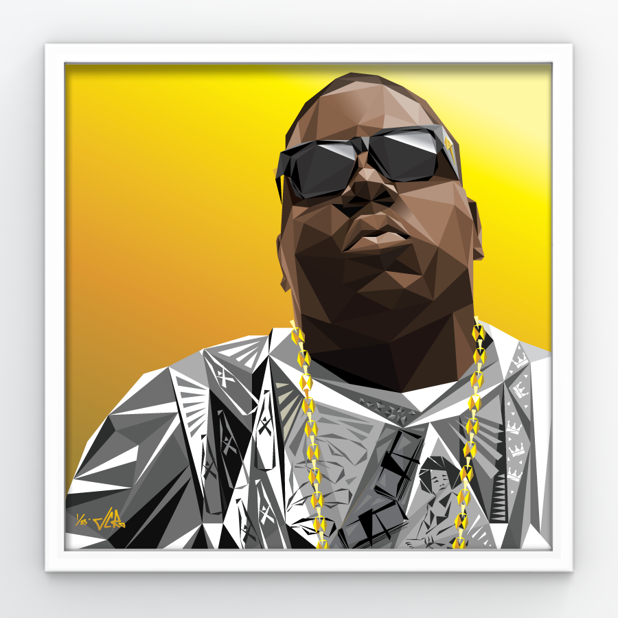 "Image of JCRo - Biggie GOLD - limited edition 20"" print"