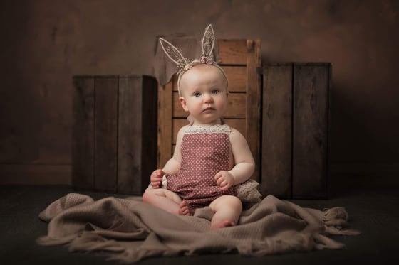 Image of White bunny ear headbands