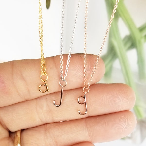 Image of Tiny wire Letter Necklace