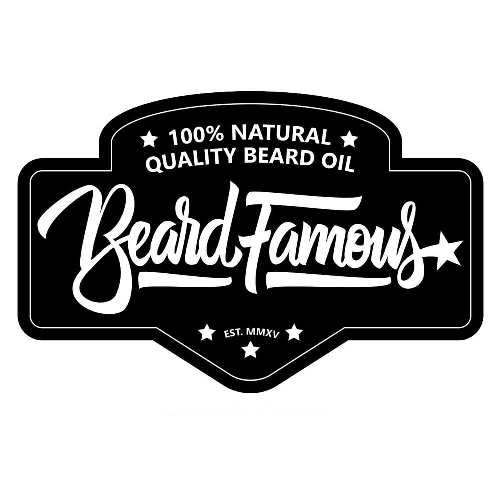 Image of Beard Famous Beard Oil Sticker