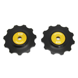 Image of Ceramic Jockey Wheel Set - 11T Delrin Wheels