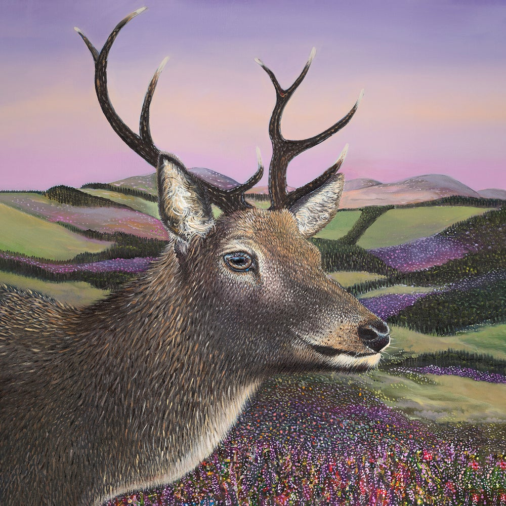 Image of Walter Scot stag giclée print