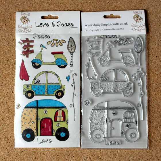 Image of Dolly Dimples - Love & Pease stamp set