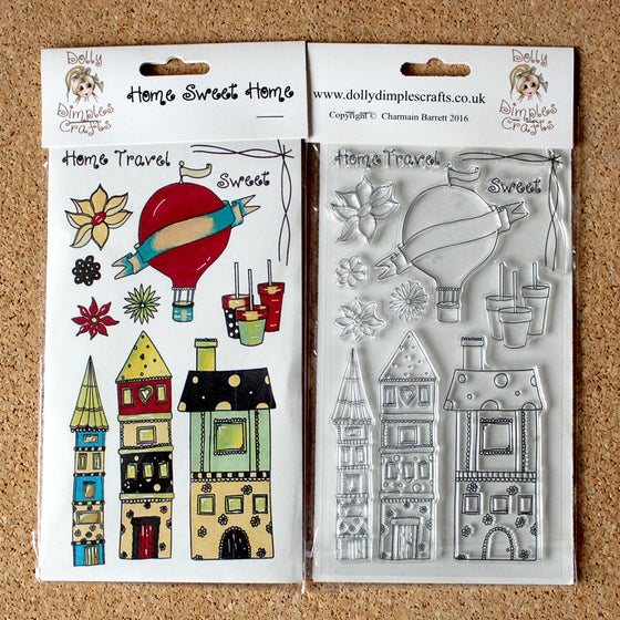 Image of Dolly Dimples - Home Sweet Home stamp set