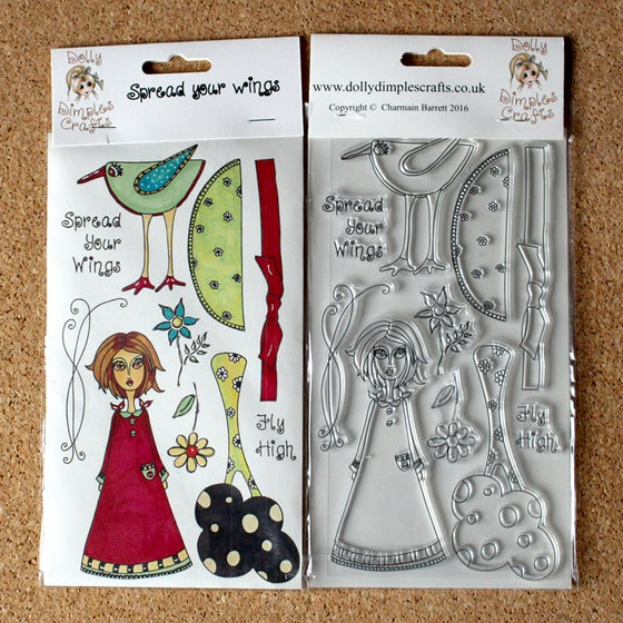 Image of Dolly Dimples  Spread Your Wings stamp set