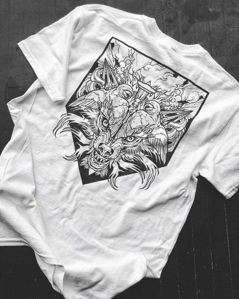 Image of PENTAGRAM WHITE POCKET TEE