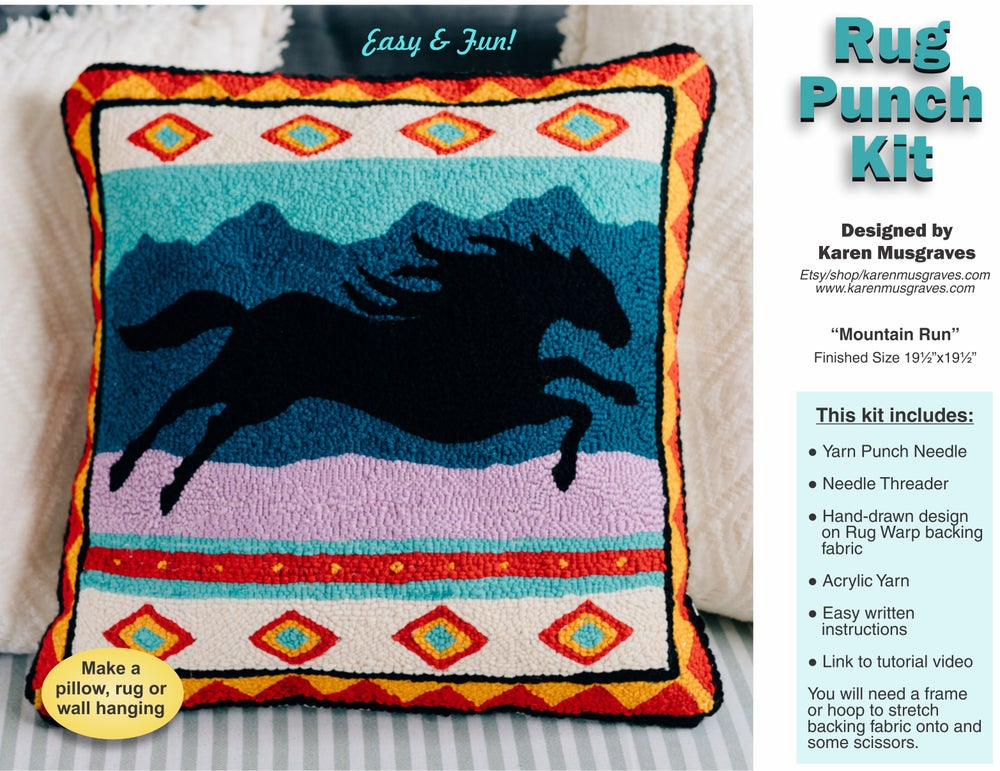 "Image of Rug Punch Kit ""Mountain Run"""