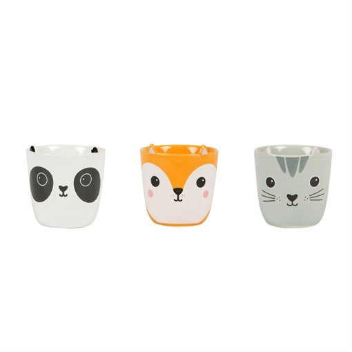 Image of Set of 3 Kawaii Egg Cups