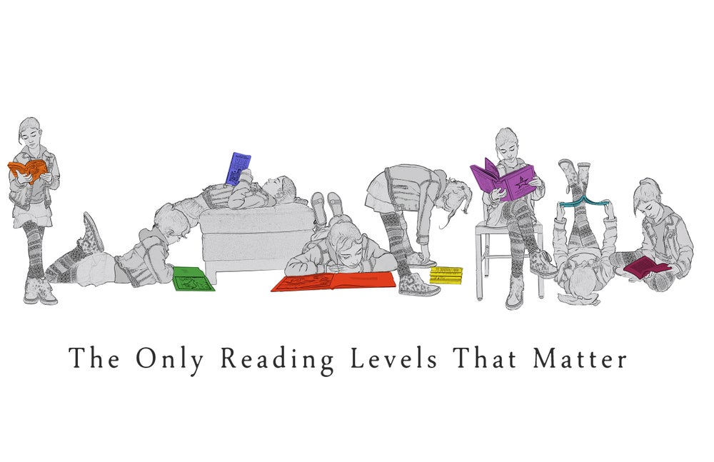 Image of Reading Levels Poster (white background)