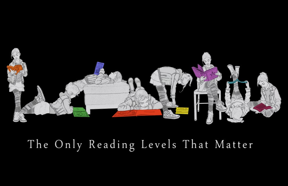 Image of Reading Levels Poster (black background)