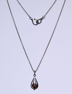 "Image of Small ""Momento"" Teardrop Necklace with Garnet"